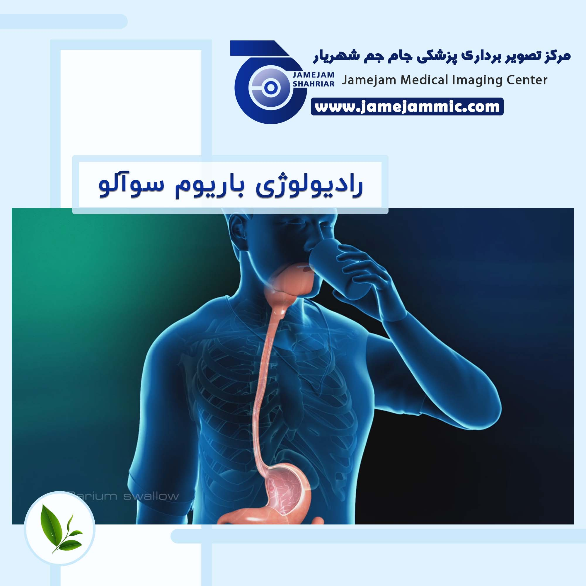 رادیولوژی باریوم سوآلو (مری) Barium Meal & Swallow